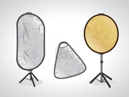 photo studio reflectors on stand