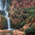 Beautiful photo of waterfalls with soft flowing wa...