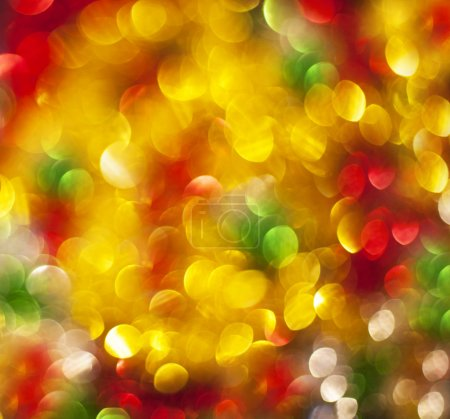 Defocused christmas lights background - Stock Image