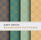 Art Deco seamless pattern with 4 colours background