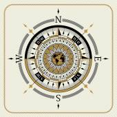 Nautical vintage compass 04