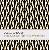 Art Deco seamless pattern  black white and gold colours 01