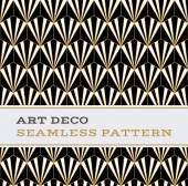 Art Deco seamless pattern  black white and gold colours 02