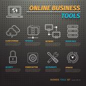 On-line obchodní nástroje na temné dírkovaná deska