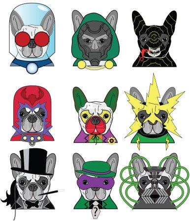 Villains French Bulldog Icons