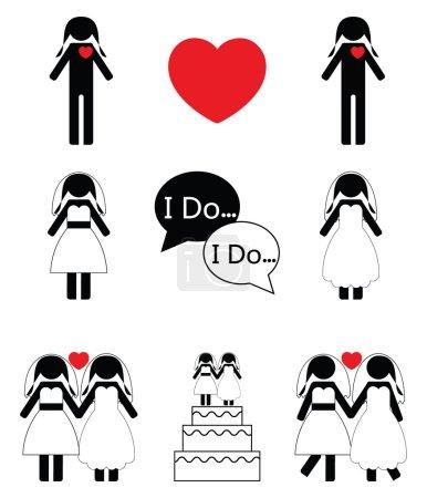 Gay woman wedding