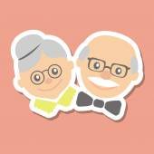 Vector illustration Happy grandparents day