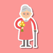 Vektorové ilustrace. Babička ikona