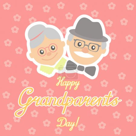 Vector illustration. Happy grandparents day.