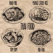 Thai food set Vector illustration