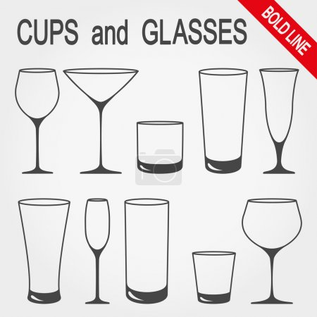 Cups and glasses.