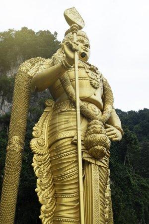 Statue of hindu god Muragan at Batu caves.