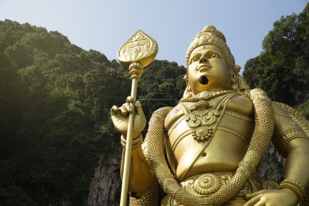 Statue of hindu god Muragan at Batu caves.