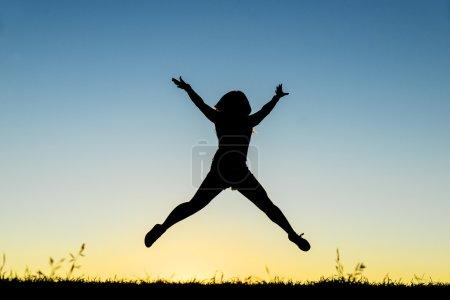 Teen having fun. Concept of happiness