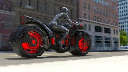 Photo for 3D rendering of speeder bike - Royalty Free Image