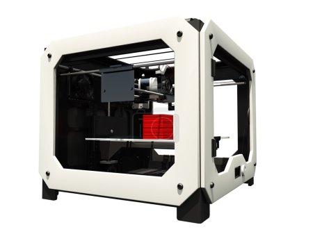 Photo pour Image de l'imprimante 3D - image libre de droit