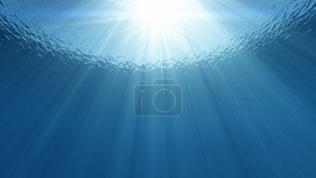 sunlight in the sea