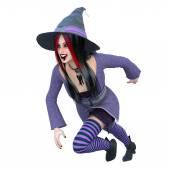 3D obrázek čarodějnice
