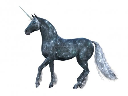 3D illustration of a unicorn