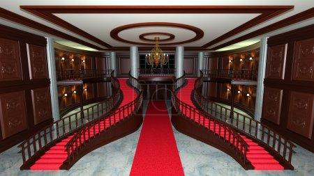 3D CG rendering of lobby