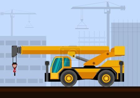 Down cab rough terrain industrial crane with const...