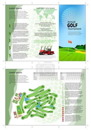 Golf brochure layout