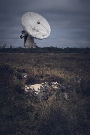 Telescope Goonhilly decommissioned site shot from ...