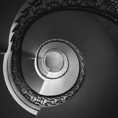 Spiral staircase bottom view