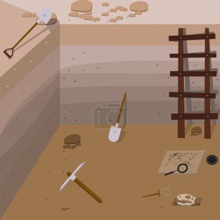 Archeology vector illustrations.