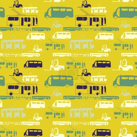 yellow bus pattern