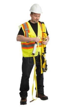Worker in iniform