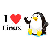 I love linux concept vector illustration