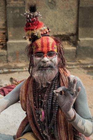 Napalese sadhu smiling