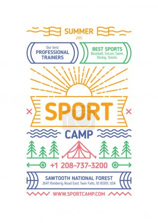 Sport Camp Poster
