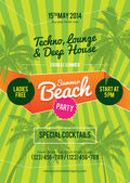 flyer de Summer beach party