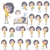 """Постер, картина, фотообои """"Желтый пиджак среднего женщина о болезни"""""""