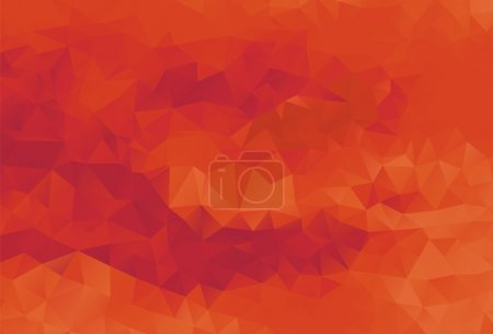 Illustration for Abstract polygonal background, vector, orange and red - Royalty Free Image