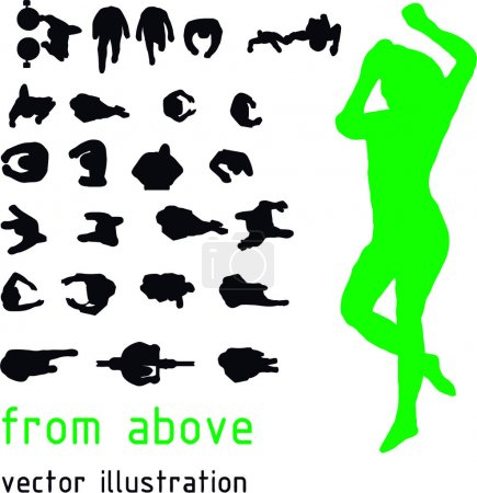 Illustration for Vector silhouettes from the top - Royalty Free Image