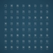 64 Icons - Simple Documents Blue Edition