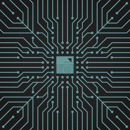 Circuit boardconceptual vector decor two