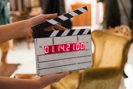 Photo for Movie production digital clapper board - Royalty Free Image
