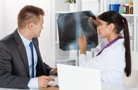 Radiologist or traumatologist concept