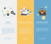 Web banners for business finance