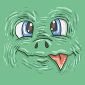 Children's print for T-shirts Illustration for stickers Cartoon funny monster Vector cut monster label