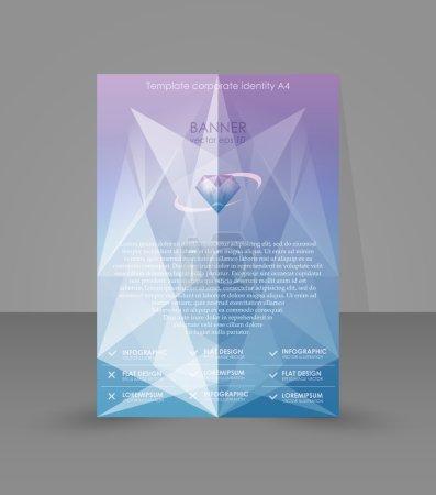 Editable poster for magazine