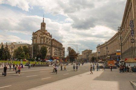 Khreshchatyk, central street of Kyiv