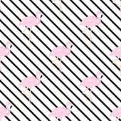 background with diagonal stripe and flamingos