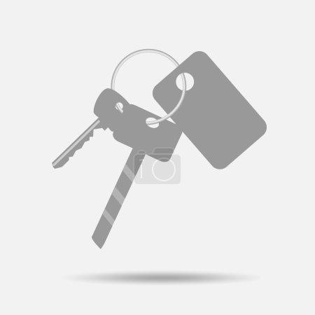Bunch of keys with keychain
