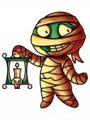 Mumie kreslená postava digitální obraz