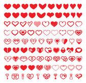 Srdce vektorové tvary sada